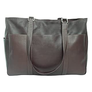 Piel Leather Large Shopping Bag, Chocolate, One Size