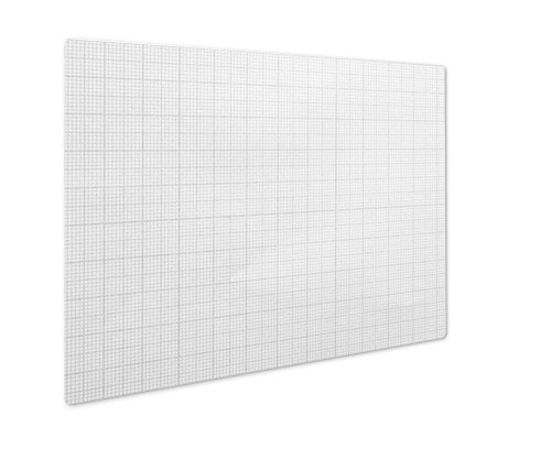 (Ashley Giclee Graph Paper, Wall Art Photo Print On Metal Panel, Black & White, 8x10, Floating Frame, AG6070573)