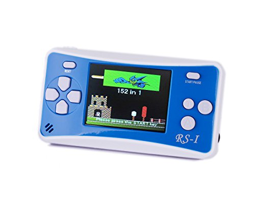 Kids' Classic Retro Handheld Game Console,QINGSHE Portable Video Game Player 2.5'' LCD 8 Bit 152 in 1 Games ,Arcade Style Old School Gaming System,Best Electronics Toys for Kids as Birthday Gift-Blue