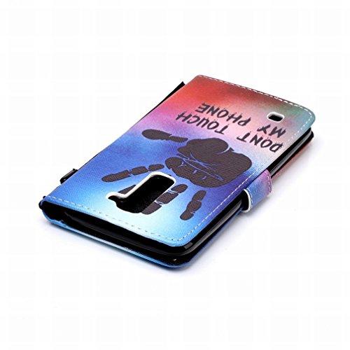 Yiizy LG K7 X210 MS330 Funda, Palma Diseño Solapa Flip Billetera Carcasa Tapa Estuches Premium PU Cuero Cover Cáscara Bumper Protector Slim Piel Shell Case Stand Ranura para Tarjetas Estilo