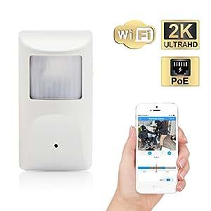 GOLBONG 4MP Covert PIR Camera - New Style Free 64G SD Card WiFi & PoE Connect ONVIF PIR Hidden Camera in Dummy PIR Sensor Housing