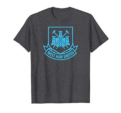 Mens West Ham United Blue Castle T-shirt Charcoal