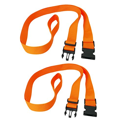 (RORAIMA Adjustable Handle Straps 6 ft up to 12 ft 1.5 inch Wide Nylon Fabric 2 Pcs/Set Color Orange Can be Used as Kayka, SUP Paddleboard Carrier/Storage Sling)