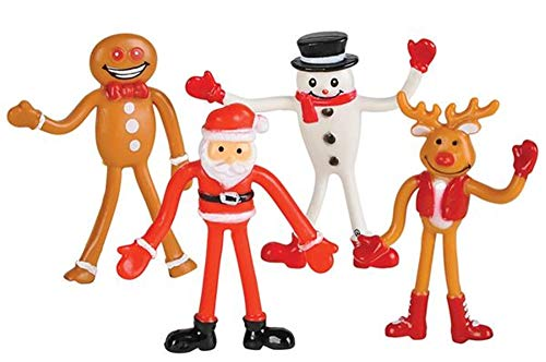 HAPPY DEALS ~ (12 Pack) 2.75 inch Christmas Character Bendables - Fun Toys - Stocking Stuffers -