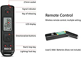 Mcoplus pa/ño de limpieza Meike MK-A7II Pro incorporado 2.4 GHz Control inal/ámbrico empu/ñadura con bater/ía para Sony A7 II Sony VG-C2EM