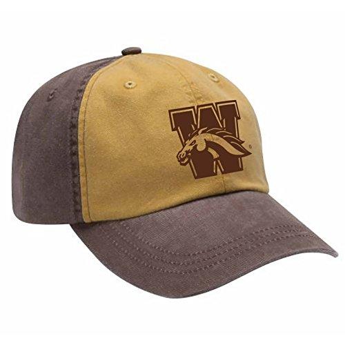Western Michigan Broncos Primary Logo Two-Tone Adjustable Hat - OS - Espresso/Mustard