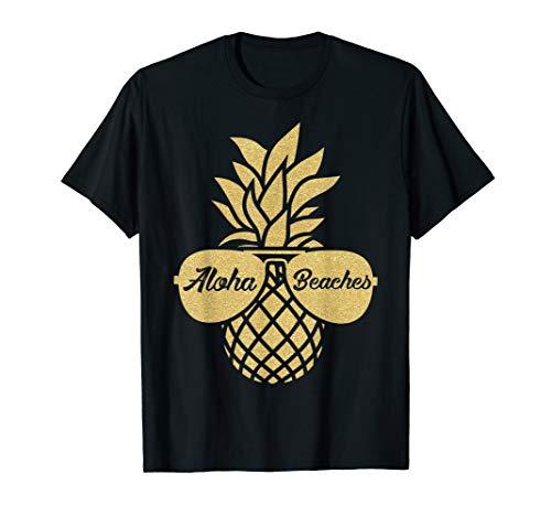 Pineapple Sunglasses T shirt Aloha Beaches Hawaiian Hawaii