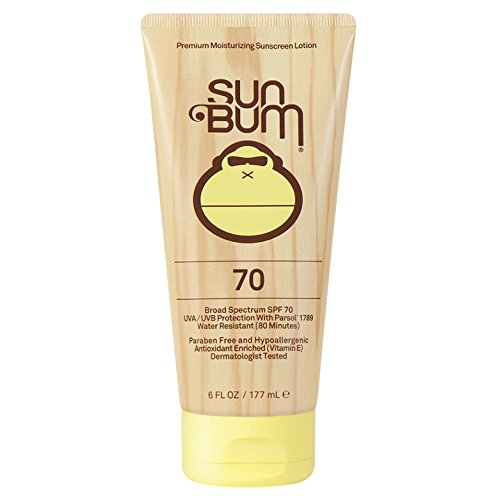Sun Bum Original Moisturizing Sunscreen Lotion, SPF 70, 6 oz Tube, 1 Count, Broad Spectrum UVA/UVB Protection, Hypoallergenic, Paraben Free, Gluten Free (Sunblock Body)