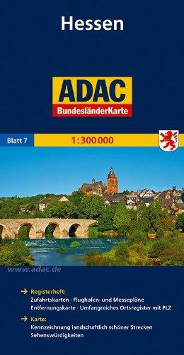 ADAC Bundesländerkarte Hessen 1:300.000 (ADAC BundesländerKarten Deutschland)