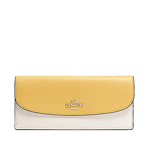 CoachColorblock Crossgrain Leather Wallet F53777
