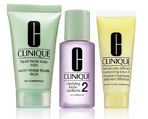 CLINIQUE 3-Step Skincare System Trial Set (Dry/Combination) (Trial Size Clinique)