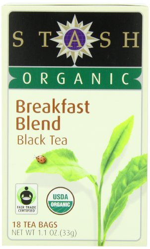 Stash Tea Inherent Breakfast Blend Black Tea, 18 Count Tea Bags in Foil (Pack of 6)