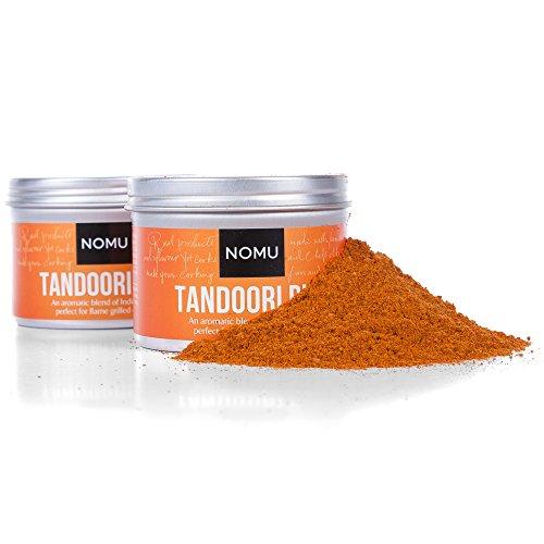 NOMU Tandoori Seasoning Rub (2-Pack | 4.23oz) - Blend of 17 Premium Herbs and Spices - Paleo, Vegan, Non-Irradiated, No MSG or ()