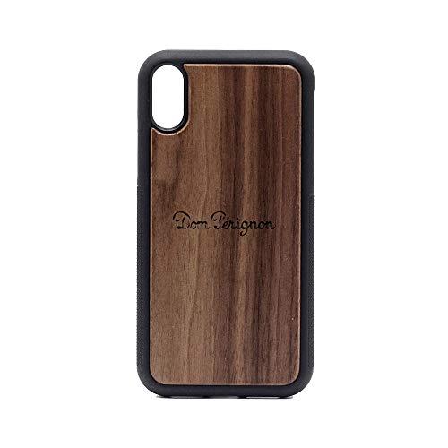 (Logo DOM PERIGNON 1 - iPhone XR Case - Walnut Premium Slim & Lightweight Traveler Wooden Protective Phone Case - Unique, Stylish & Eco-Friendly - Designed for iPhone XR)