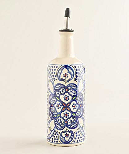 Medium Ceramic Oil Bottle - Ceramic Oil or Vinegar Bottle Dispenser