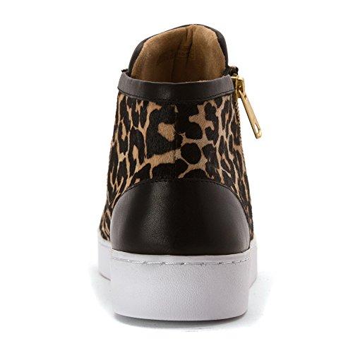 Torri Hoge Top Sneaker Tan Leopard Van De Vionische Vrouw