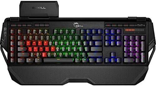 Gskill GK-KCL1C4-KM780S10DE - Teclado USB para juegos (2 unidades), color rojo, negro, rojo y rojo