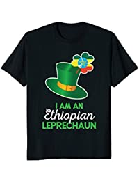 Ethiopian St Patricks Day Leprechaun Casual T-Shirt