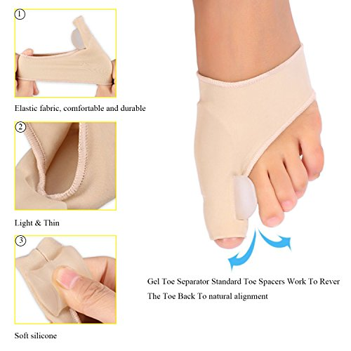 Bunion Corrector Pads Kit Bunion Protector Toe Spreader Bunion Relief Socks Sleeves Toe Stretcher & Separator,Foot Massage Ball for Tailors Bunion,Hallux Valgus,Overlapping Toes,Big Toe Joint by Carikaien (Image #1)