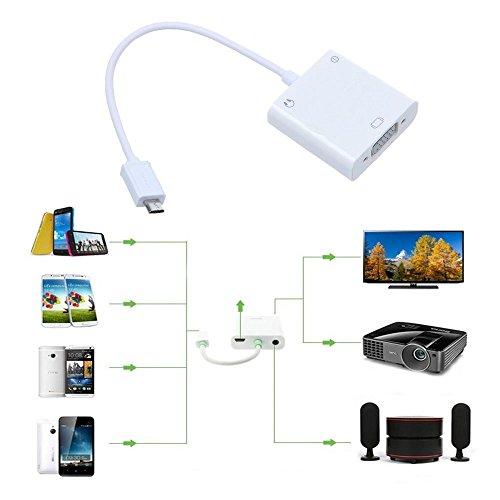 Walmeck USB MHL to VGA and 3.5mm Audio Adapter + Micro 5pin Adapter for Smartphone by Walmeck (Image #3)