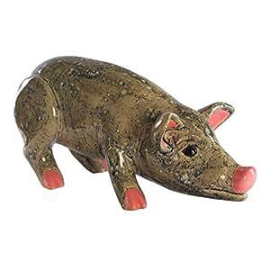 Jardín Figura de cerdo (cerámica, aprox. 35cm de alto