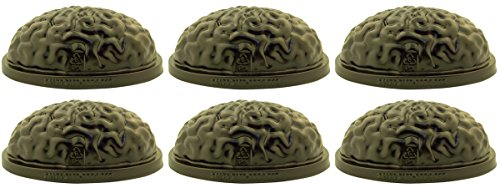 Floating Brain Freeze Gelatin Candy or Ice Cube Mold, 8 1/2 Inch (6)