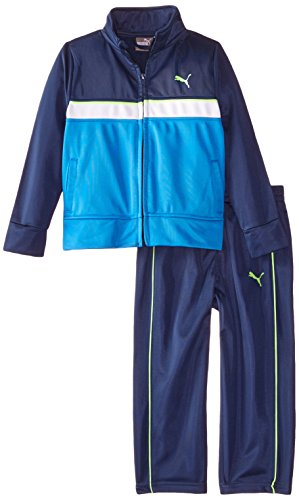 Puma Tricot Track Pant (PUMA Little Boys' Toddler Tricot Jacket and Pant Set, Sky Blue, 3T)