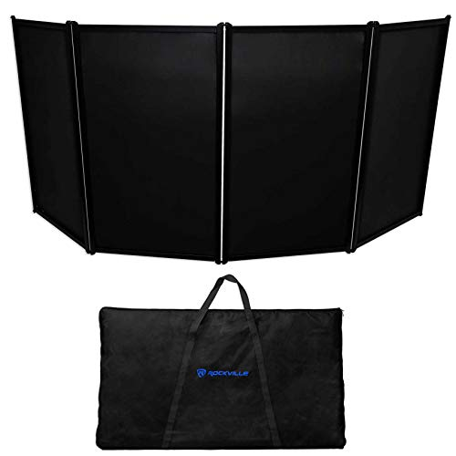Rockville DJ Event Facade Light Weight Metal Frame Booth+Travel Bag+Scrim (RFAAC)