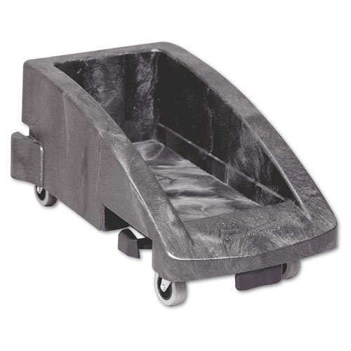 Rubbermaid Commercial Slim Jim Trolley, 200 lbs, Black, 2/Carton - one dolly. - Slim Jim Dolly