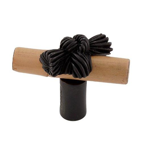 Vicenza Designs K1128 Palmaria Bamboo Knot Knob, Small, Oil-Rubbed Bronze