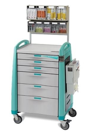 - MSEC by Capsa, Crash Cart, Anesthesia Cart Auto Lock - Standard - Extreme Green