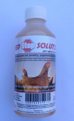 250ml Red Stop Solution Red Mite Control for Chickens Poultry Birds Hatching ... by Dragon Poultry