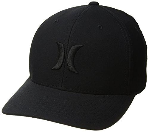 Hurley Men's Dri-Fit One & Only Flexfit Baseball Cap, Black, S-M ()