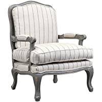 Burnham Home 11711 Hasting Arm Chair, Gray & Ivory