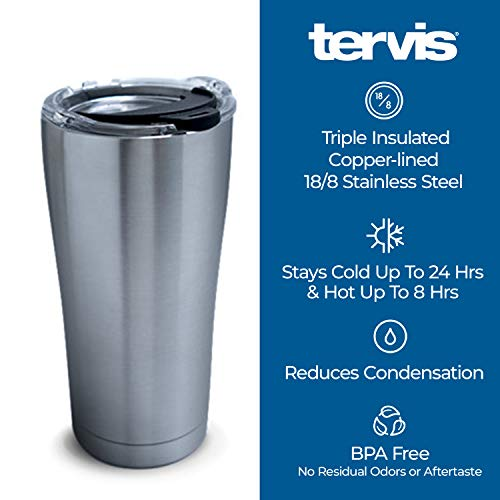 Tervis Happy Everything Triple Walled Insulated Tumbler, 20oz – Stainless Steel, Hot Cocoa