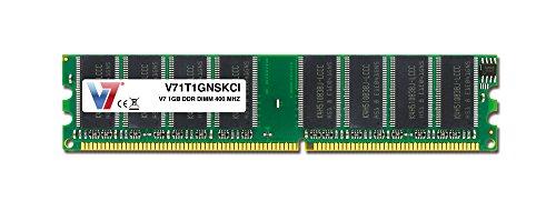 V7 Memory RAM Arbeitsspeicher 1GB für Desktop PC (400MHz, CL3) 184 polig DIMM DDR