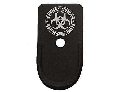 Angular Base - for Springfield Armory XD-S Finger EXT Floor Base Plate Black NDZ Zombie Response Team Angular Biohazard