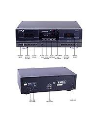 Pyle pt659du Dual Deck con cinta de casete estéreo USB to MP3 Converter