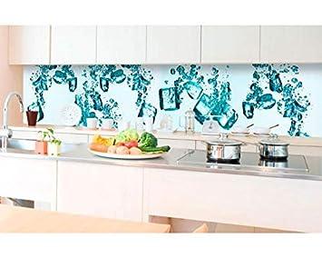 Kuchenruckwand Folie Selbstklebend Eiswurfel 350 X 60 Cm