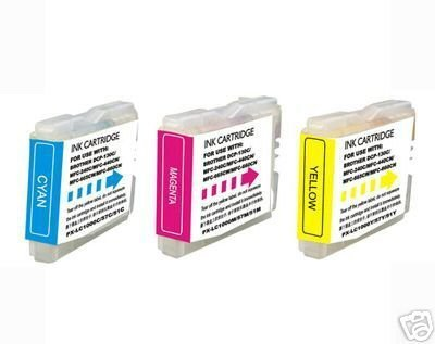 Brother LC51 Compatible Color 3 Pack Ink Cartridges for MFC 230C 240C 350C 440CN 465CN 3360C 5460CN 5860CN 665CW 685CW 845CW 885CW ()