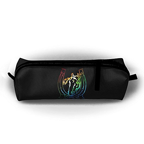 Galaxy Horse Horseshoes Children Girls Zipper Pen Bag Cosmetic Bags Unisex Cylindrical Purse