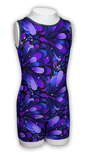 Pelle Gymnastics Biketard - Purple Peacock (Other Prints Available) - - Leotard Cxs