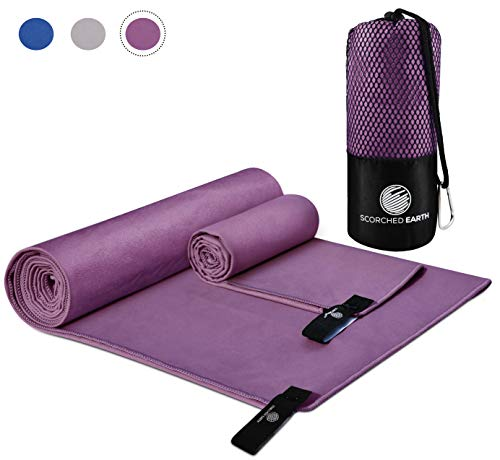 ScorchedEarth Microfiber Travel & Sports Towel (Ultra Violet)