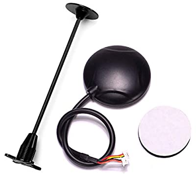 FPVKing 6M GPS Module Built-in Compass +Black GPS Folding Antenna Mount Holder for APM2.6 APM2.8 Pixhawk Flight Controller: Toys & Games