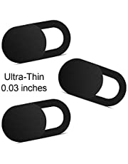 Webcam Cover 0.03in Ultra Thin, iRush Web Camera Cover for Laptop, Desktop, PC, Macboook Pro, iMac, Mac Mini, Computer, Smartphone, Protect Your Privacy and Securtiy, Strong Adhensive (3 Pack)