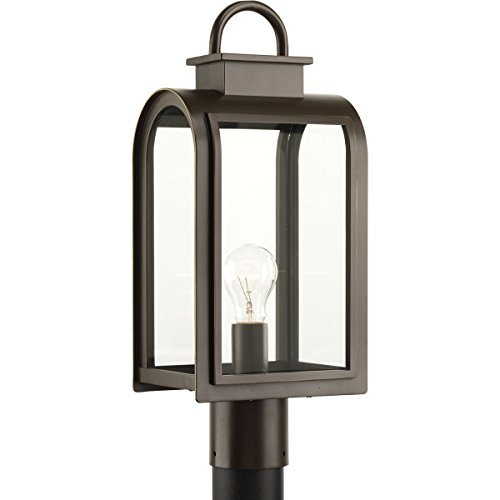 Progress Lighting P6431-108 Traditional/Casual 1-100W Med Post Lantern, Oil Rubbed Bronze - Progress Lighting Bronze Outdoor Lantern