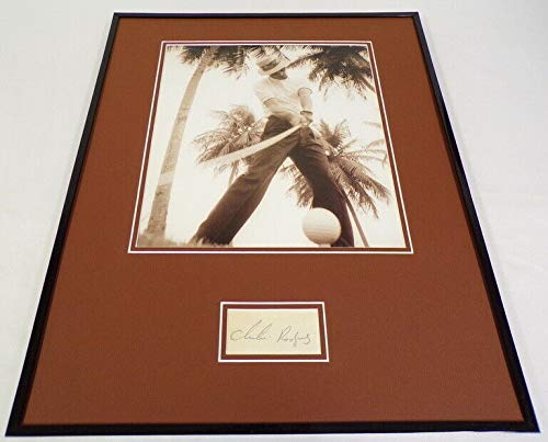 Chi Chi Rodriguez Signed Framed 16x20 Teeing Off Photo Display JSA