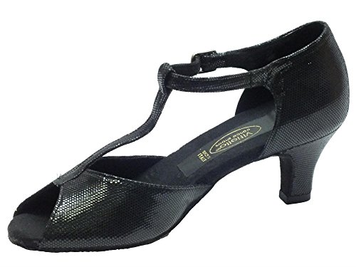 Vitiello Dance Shoes  Sandalo L.a. Satinato Nero 50r, Damen Tanzschuhe Schwarz