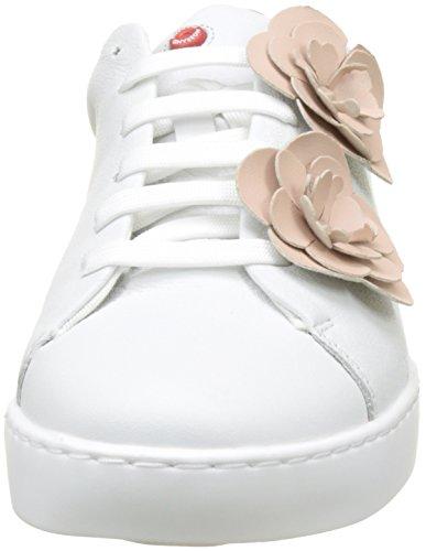 01 Brisk white Derby De Cordones Mujer Nobrand Zapatos Para Blanco Nude aUxvd1
