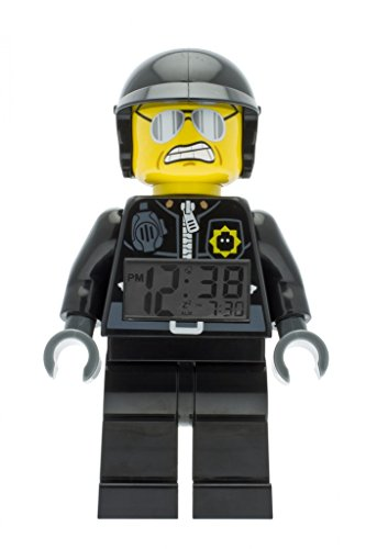 LEGO Movie Bad Cop Kids Minifigure Light Up Alarm Clock | black/gray | plastic | 9.5 inches tall | LCD display | boy girl | official